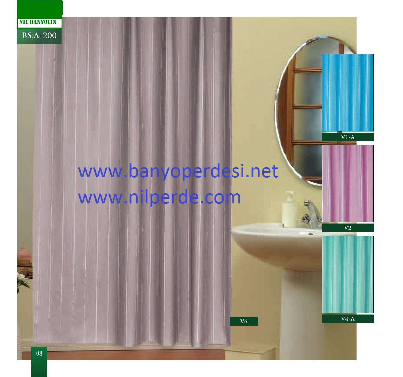 Polyester Duş Perdeleri