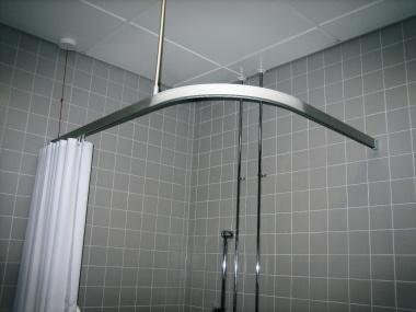 Oval- Daire Duş ray ve perdesi