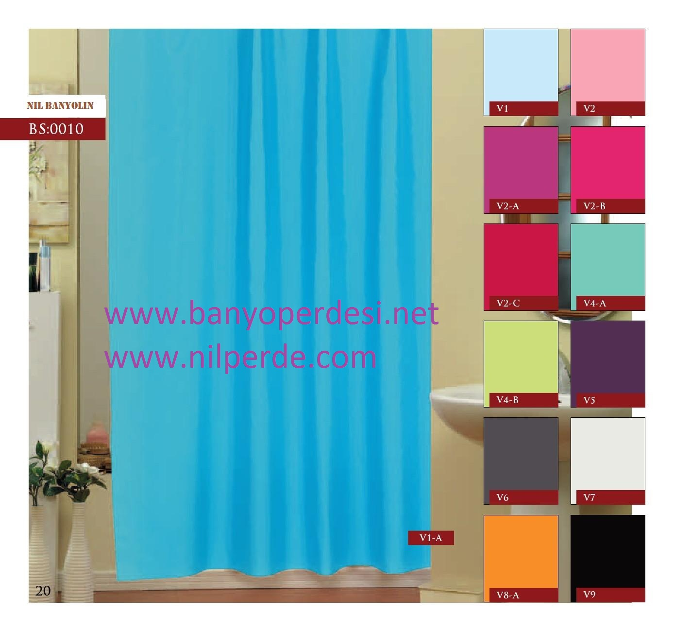Polyester Banyo Perdesi